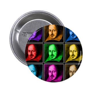 Shakespeare Pop Art 6 Cm Round Badge