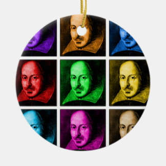 Shakespeare Pop Art Christmas Ornament