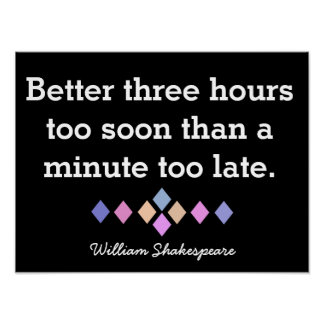 Shakespeare Poster Quote - Print