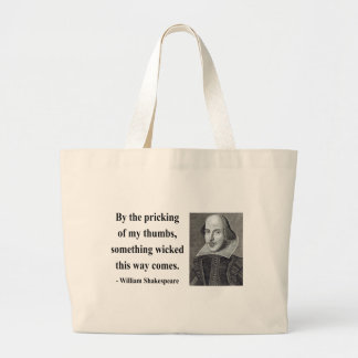 Shakespeare Quote 10b Large Tote Bag