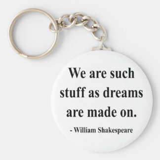 Shakespeare Quote 2a Basic Round Button Key Ring