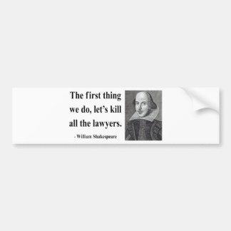 Shakespeare Quote 4b Bumper Sticker