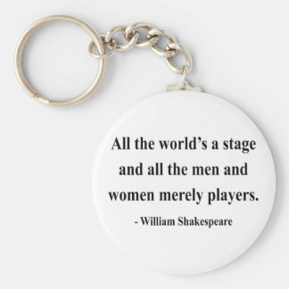 Shakespeare Quote 5a Basic Round Button Key Ring