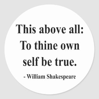 Shakespeare Quote 8a Classic Round Sticker