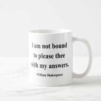 Shakespeare Quote 9a Basic White Mug