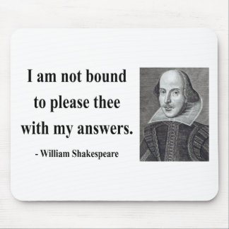 Shakespeare Quote 9b Mouse Mat