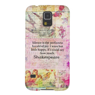 Shakespeare quote about JOY and SILENCE Samsung Galaxy Nexus Case
