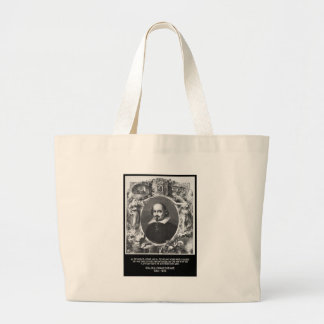 Shakespeare Quote ~ All The World's A Stage Large Tote Bag