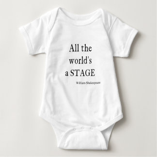 Shakespeare Quote All the World's a Stage Quotes Baby Bodysuit