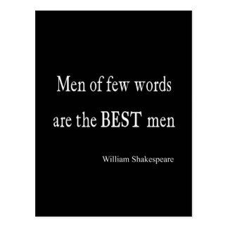 Shakespeare Quote Best Men of Few Words Quotes Postcard