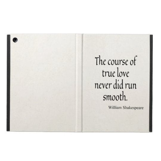 Shakespeare Quote Course of True Love Run Smooth