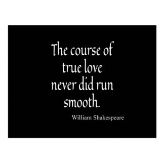 Shakespeare Quote Course of True Love Run Smooth Postcard