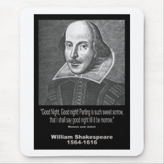 Shakespeare Quote ~ Good Night, Good night! Mouse Mat