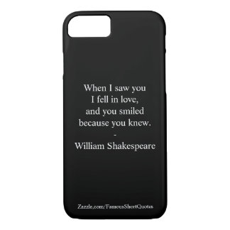 Shakespeare Quote - I Fell In Love iPhone 8/7 Case
