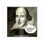 Shakespeare-quote; If music be the food of love, p Postcard