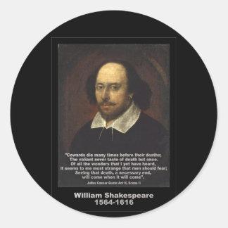 Shakespeare Quote ~ Julius Caesar Round Sticker