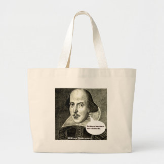 Shakespeare-quote Neither a borrower nor a lender Canvas Bag