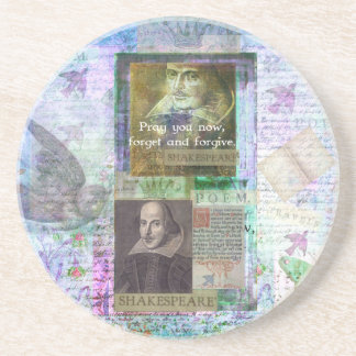 Shakespeare quote on life and forgiveness drink coasters