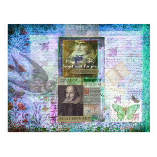 Shakespeare quote on life and forgiveness postcard