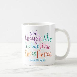 Shakespeare Quote She Is Fierce Basic White Mug