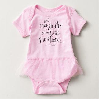 Shakespeare Quote She Is Fierce Girls Tutu Tshirt