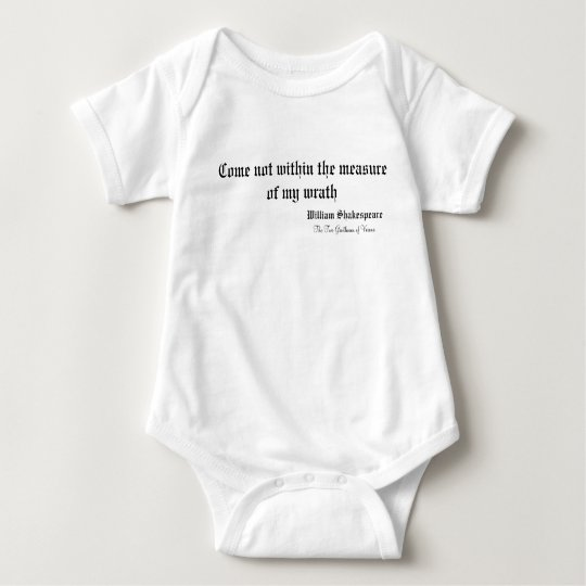 Shakespeare Quotes Baby Bodysuit