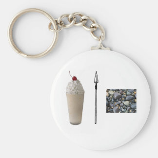Shakespeare Rocks Basic Round Button Key Ring