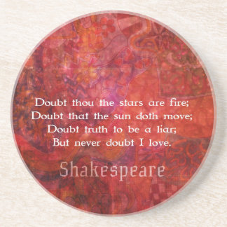 Shakespeare romantic LOVE quotation Drink Coasters