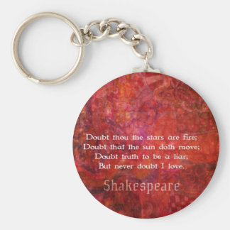 Shakespeare romantic  LOVE quotation Key Ring