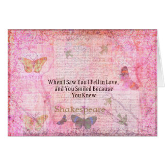 Shakespeare Romantic Love quote art typography Greeting Card