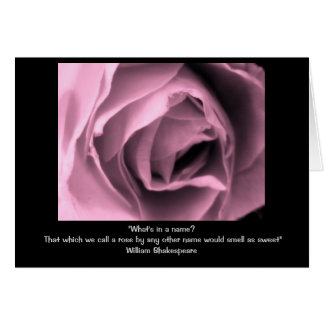 Shakespeare Rose Quote Card
