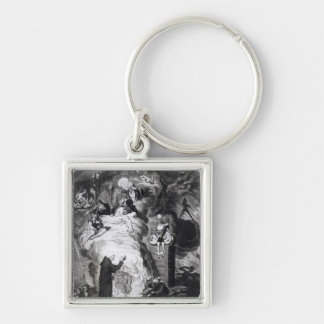 Shakespeare Sacrificed, or The Offering to Silver-Colored Square Key Ring
