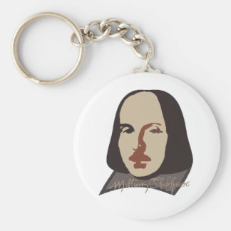 Shakespeare Signature Image Key Chains