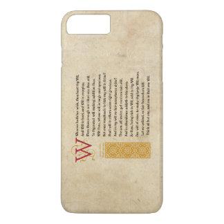 Shakespeare Sonnet 135 (CXXXV) on Parchment iPhone 7 Plus Case