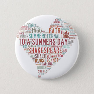 Shakespeare Sonnet 18 6 Cm Round Badge