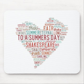 Shakespeare Sonnet 18 Mouse Pad