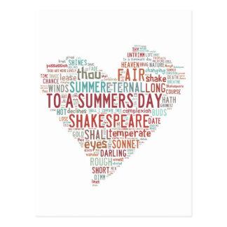 Shakespeare Sonnet 18 Postcard