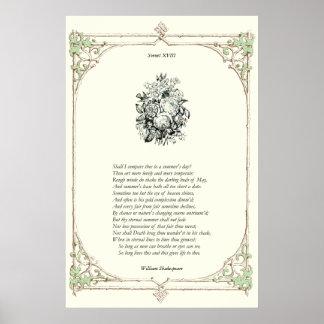 Shakespeare Sonnet # 18 Print