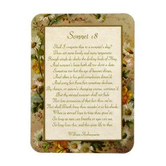 Shakespeare Sonnet 18 Rectangular Photo Magnet