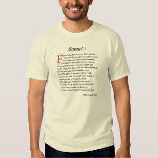 Shakespeare Sonnet 1 T Shirts