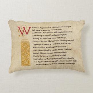 Shakespeare Sonnet 29 (XXIX) on Parchment Decorative Cushion