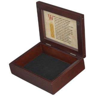 Shakespeare Sonnet 30 (XXX) on Parchment Keepsake Box