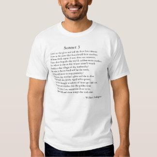 Shakespeare Sonnet 3 Tees