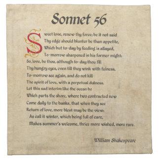 Shakespeare Sonnet 56 Parchment Napkin