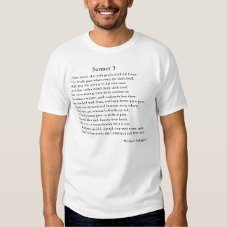 Shakespeare Sonnet 5 T-shirts