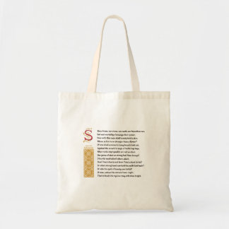 Shakespeare Sonnet 65 (LXV) on Parchment Tote Bag