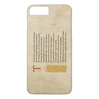Shakespeare Sonnet 87 (LXXXVII) on Parchment iPhone 7 Plus Case