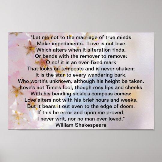 Shakespeare Sonnet Poster