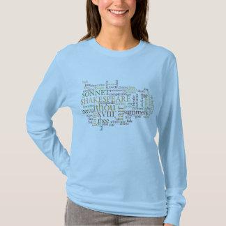 SHAKESPEARE SONNET XVIII TEXT DESIGN T-Shirt