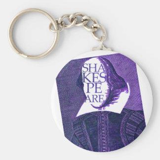 Shakespeare Stylized Sketch Keychain